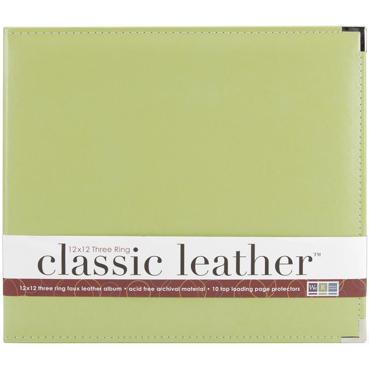 We R Classic Leather D-Ring Album 12X12-Kiwi