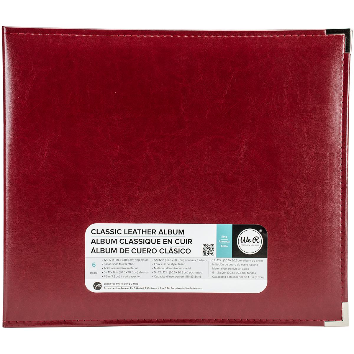 We R Classic Leather D-Ring Album 12X12-Wine