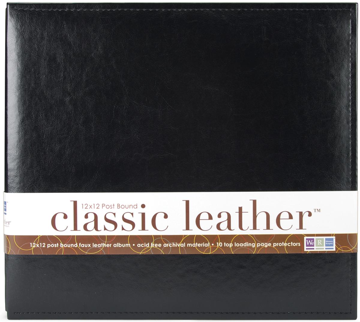 We R Classic Leather Post Bound Album 12X12-Black