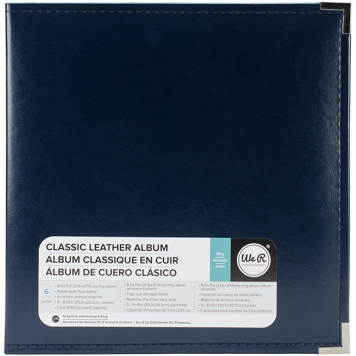 We R Classic Leather D-Ring Album 8.5X11-Navy