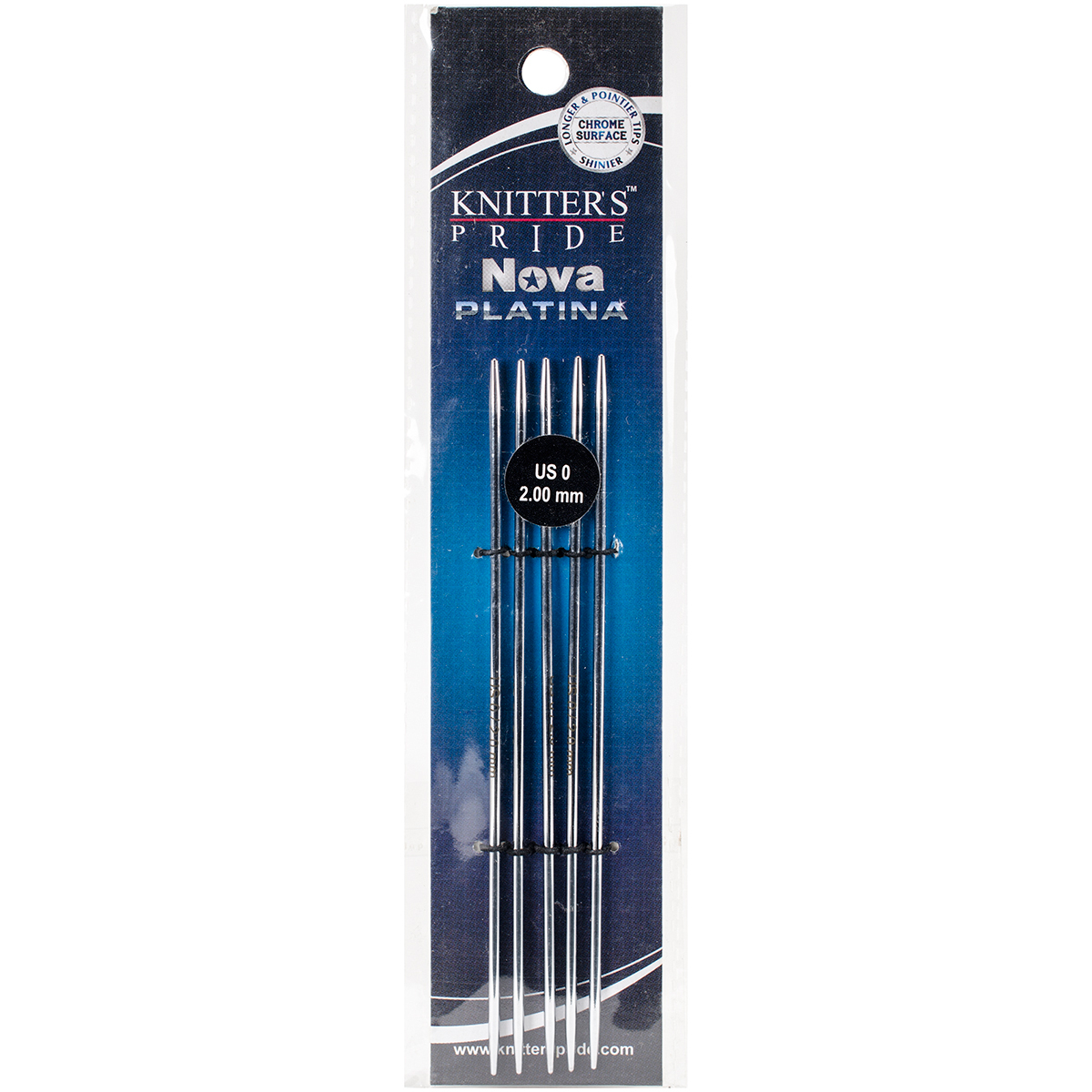 Nova Platina Double Pointed Needles 5-Size 0/2mm