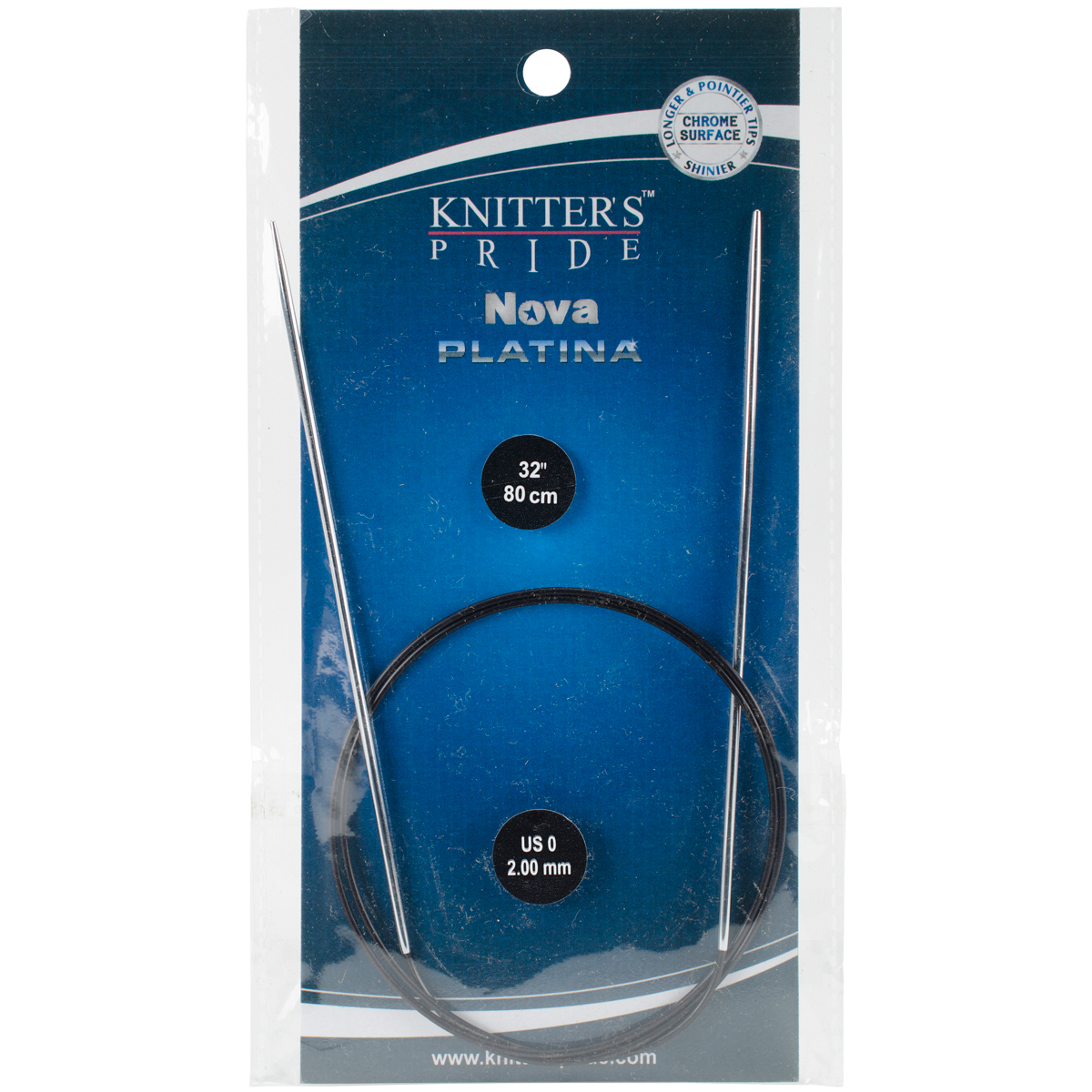 Knitter's Pride Nova Platina Fixed Circular Needles 32