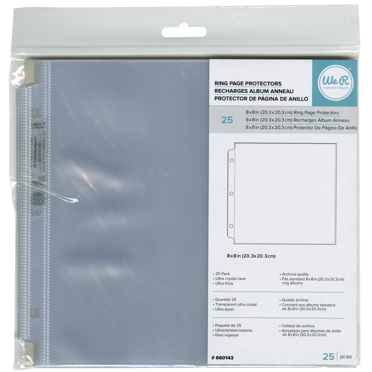 WeR Ring Page Protectors - 8x8