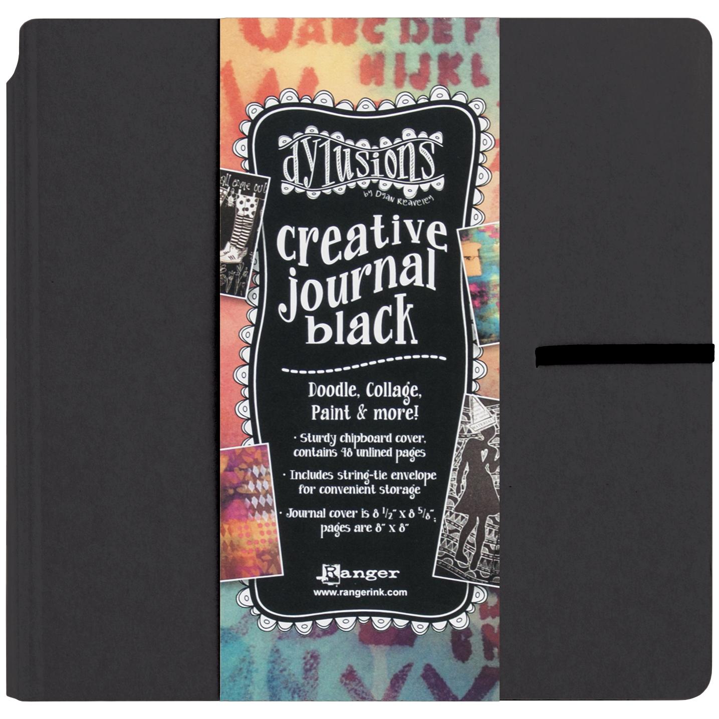 Black creative journal square