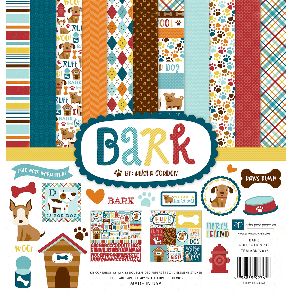 Echo Park Collection Kit 12X12-Bark