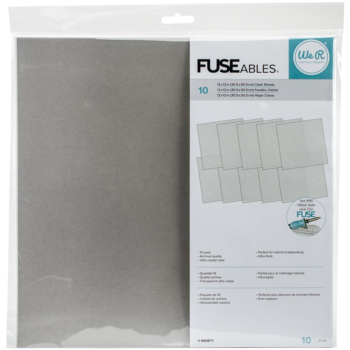 We R FUSEables Fuse Clear Sheets 12X12 10/Pkg-
