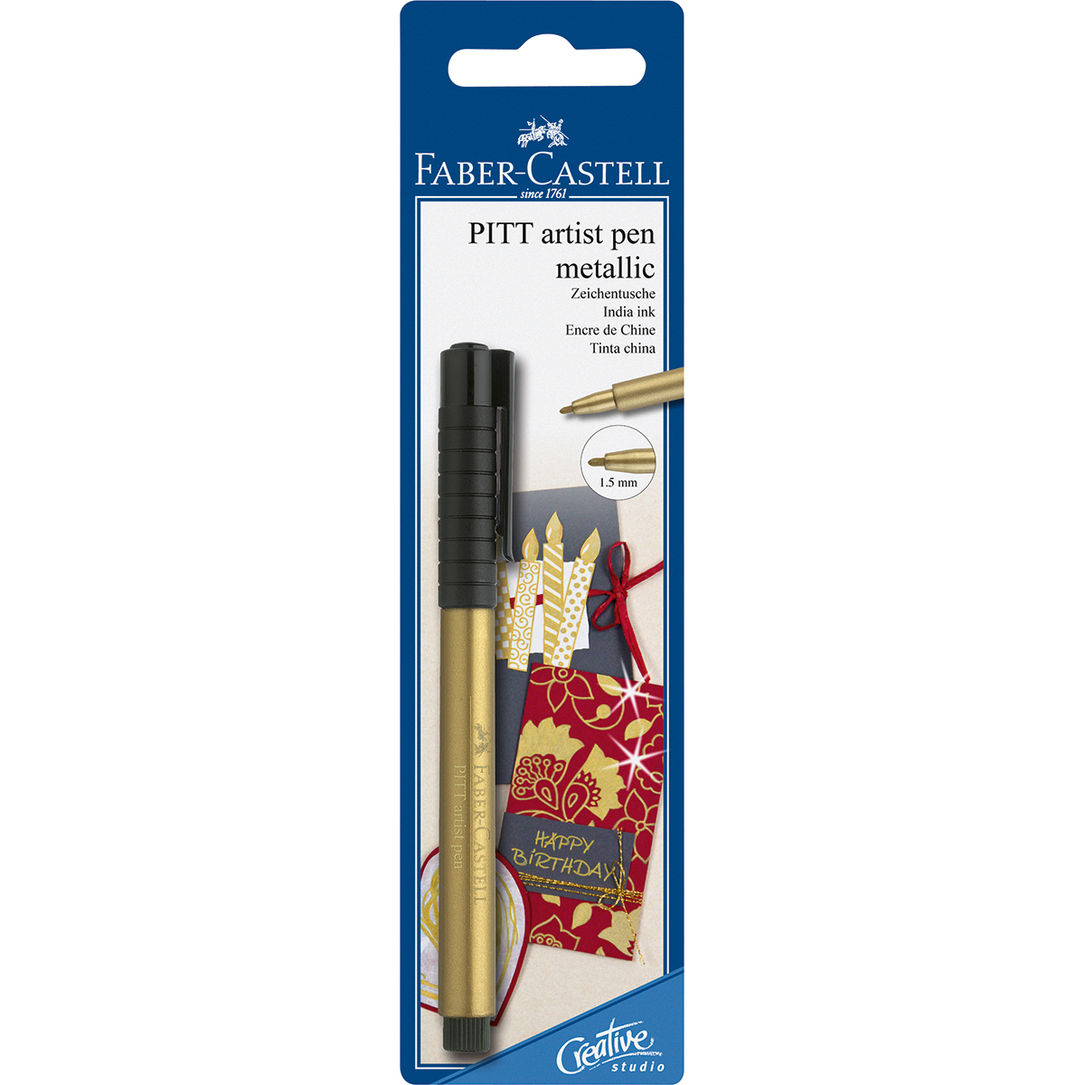 FC Gold 1.5mm Pitt Pen