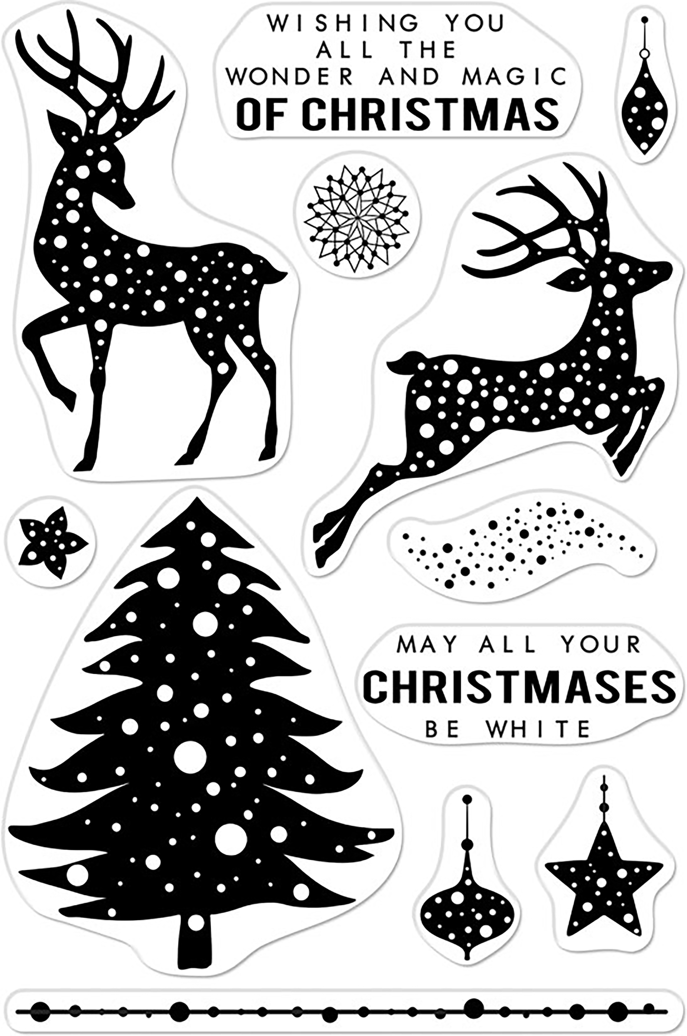 Hero Arts Clear Stamps 4X6-Wonder & Magic Of Christmas