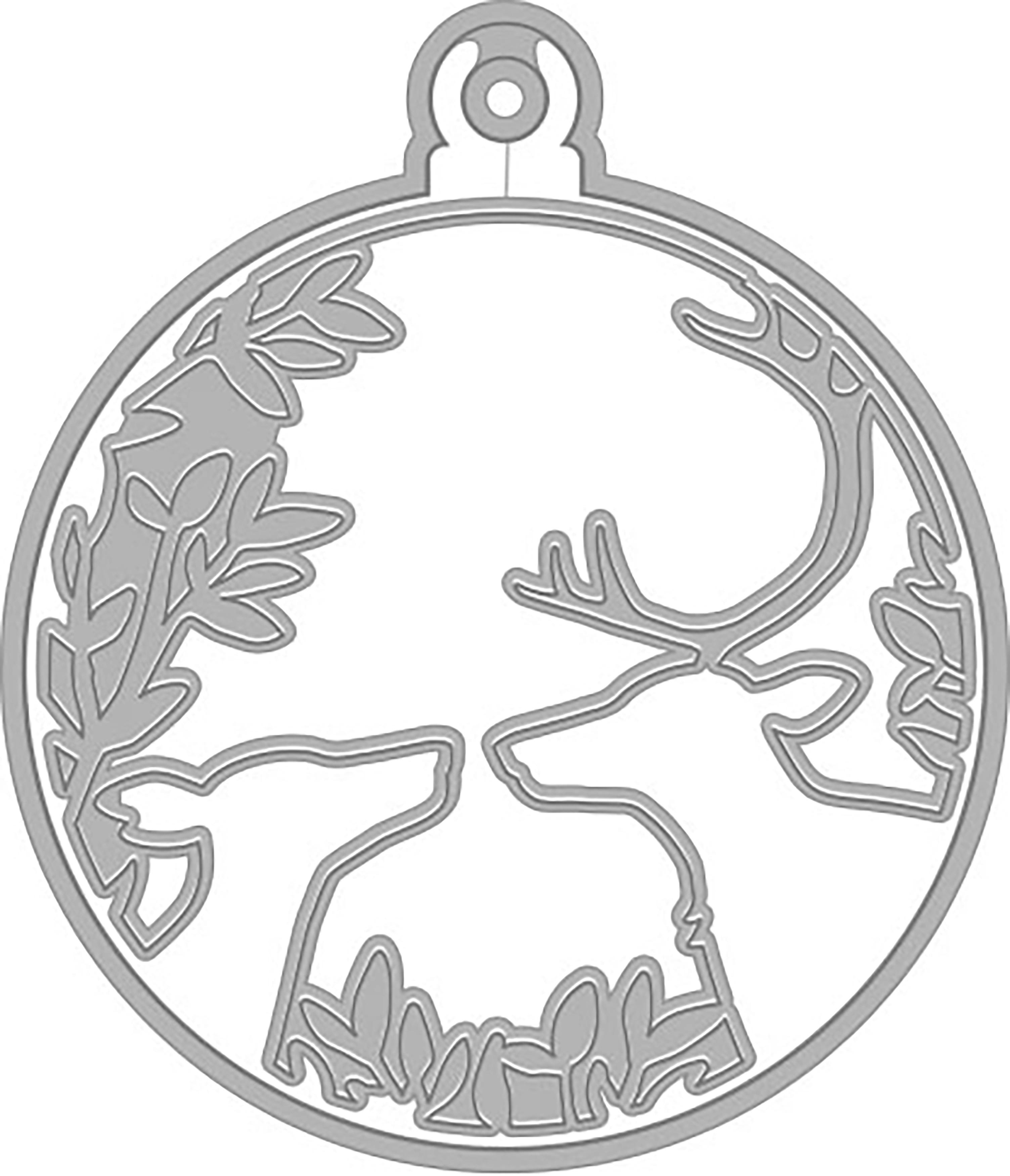 Hero Arts Fancy Dies-Deer & Ornament