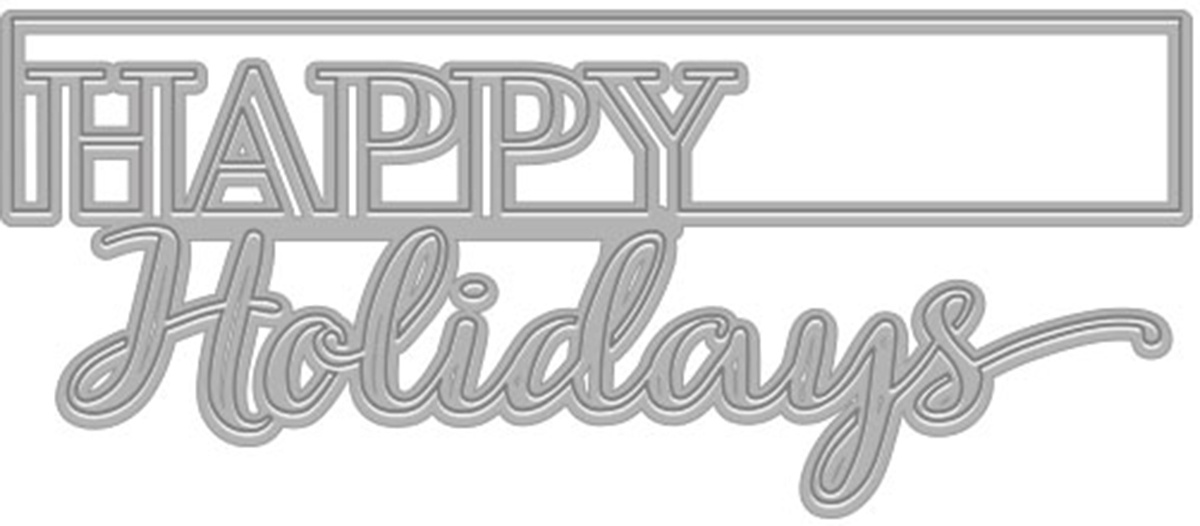 DIE - CUT-OUT HOLIDAYS FANCY