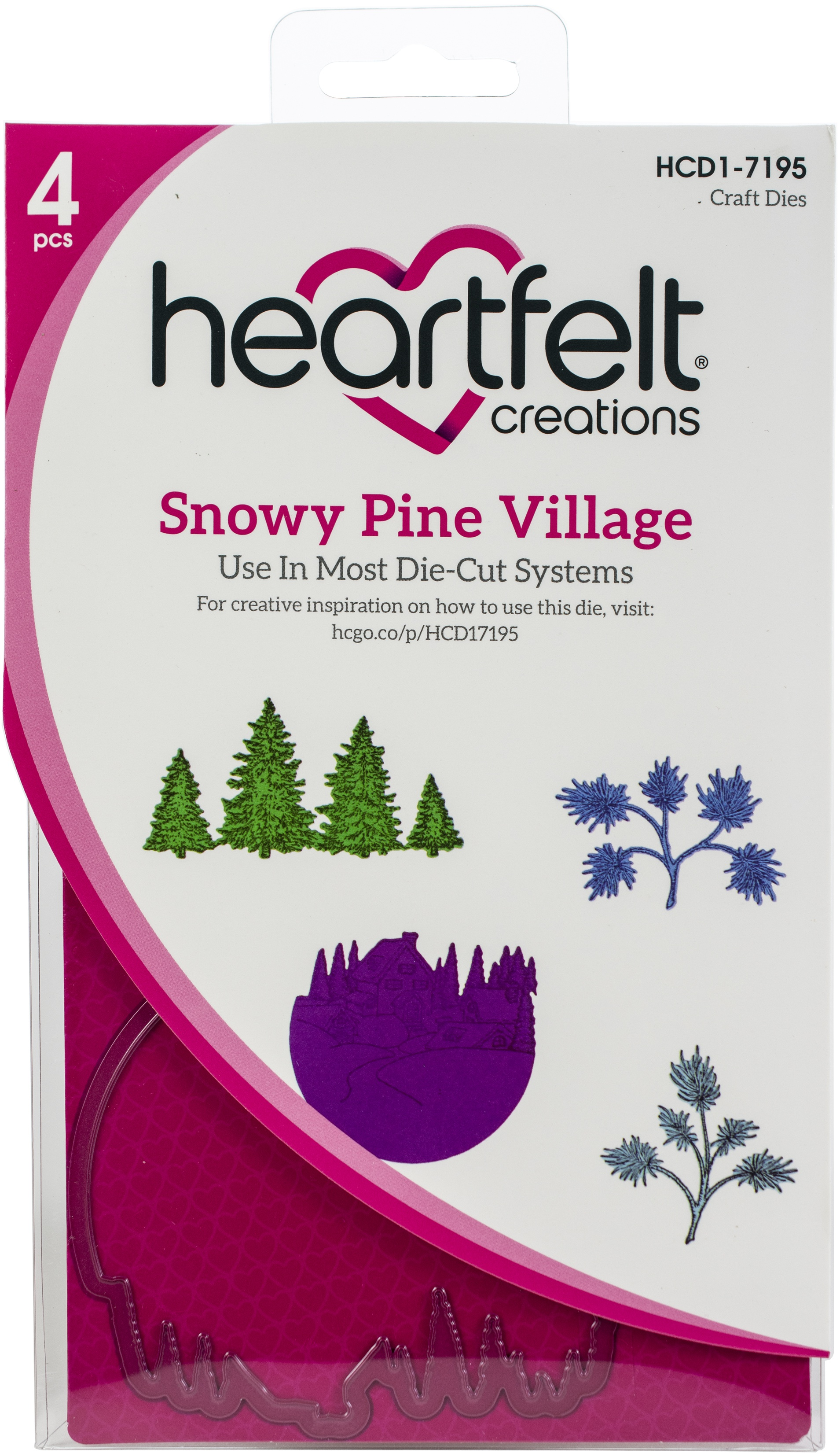 Snowy Pine Village Die Set