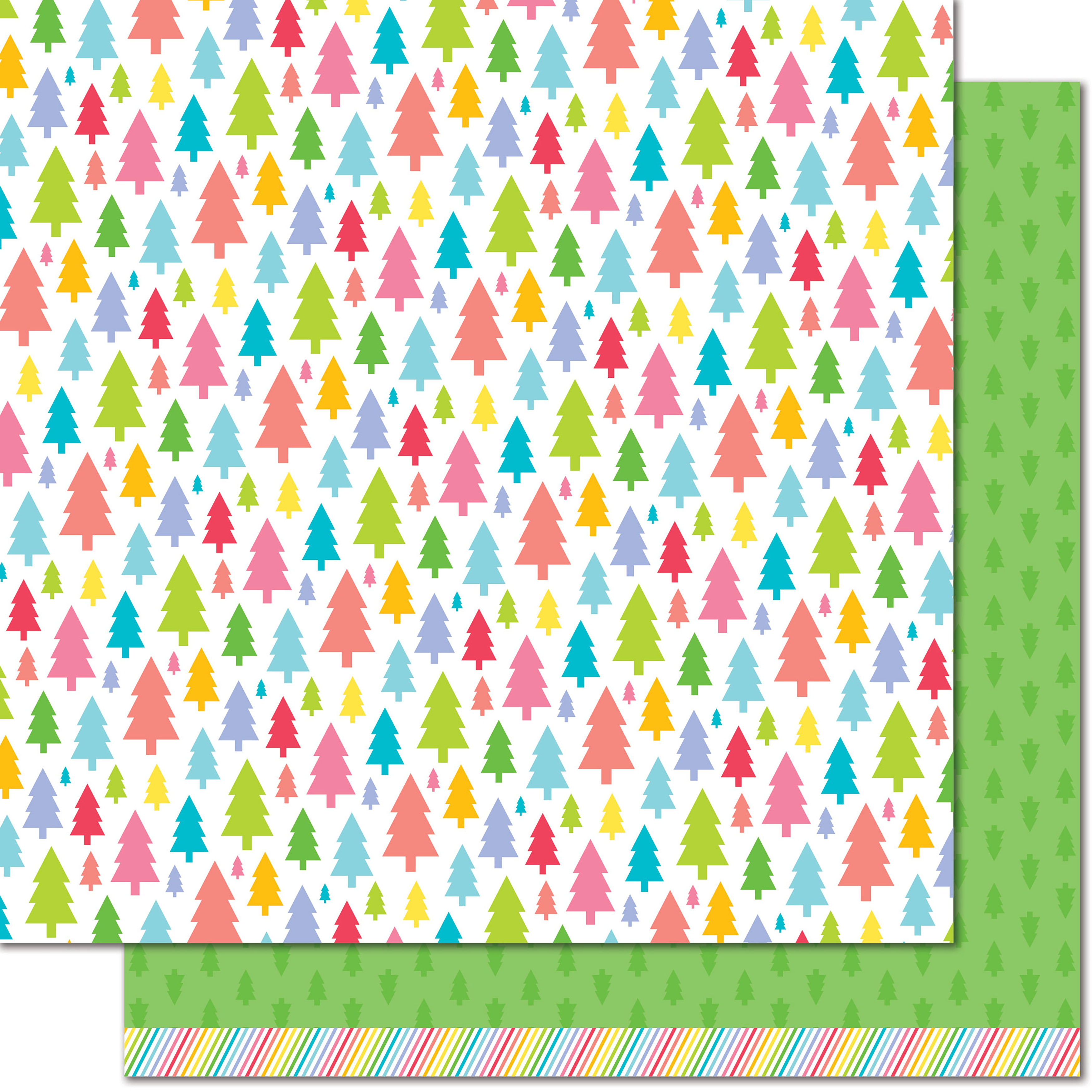 Lawn Fawn - Really Rainbow Christmas - Pine Tree Green