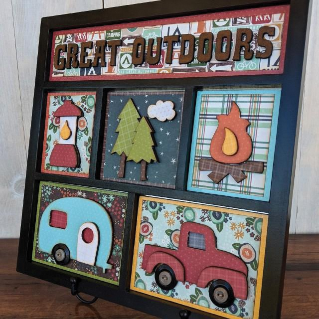 HOME DECOR - GREAT OUTDOORS SHADOW BOX KIT