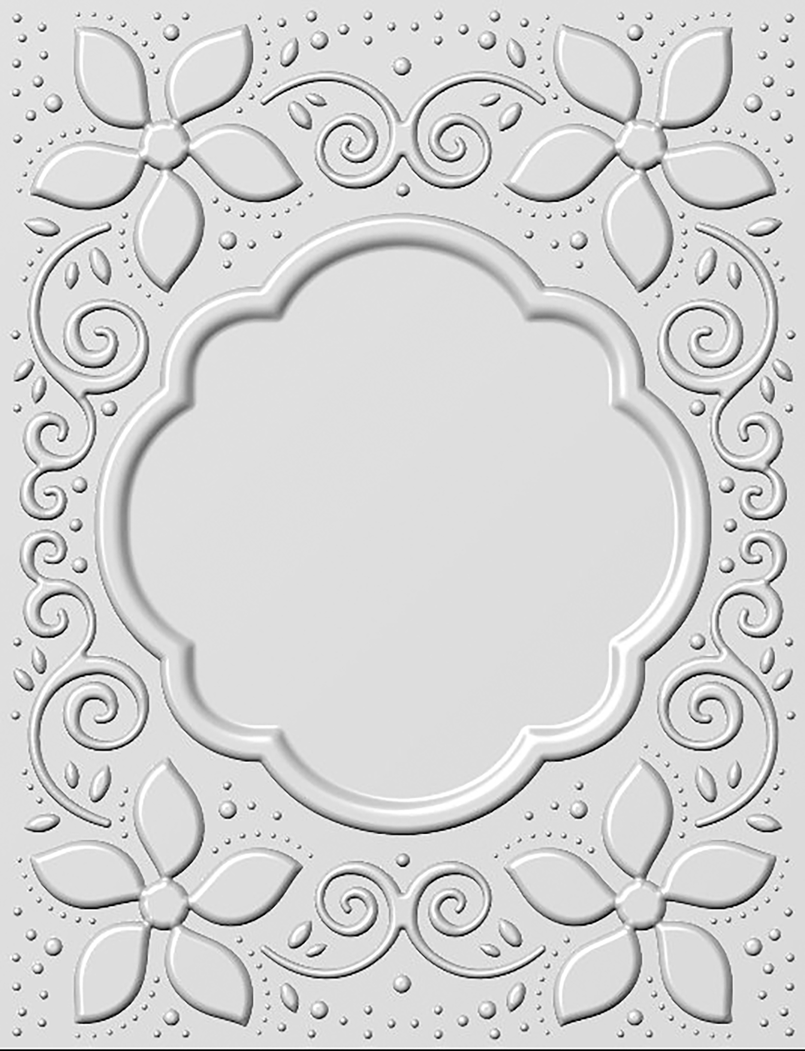 Creative Expressions 3D Embossing Folder 5.75X7.5-Natalie's Poinsettia