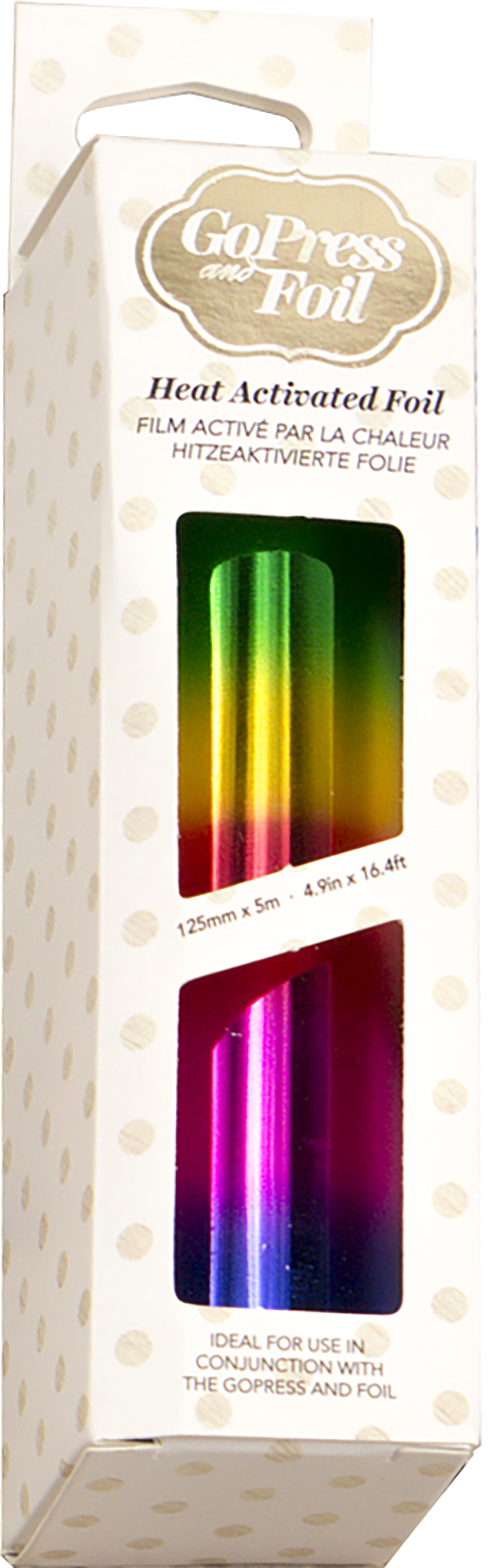 Couture Creations Foil 5X16.4'-Rainbow Bands-Gradient Mirror Finish