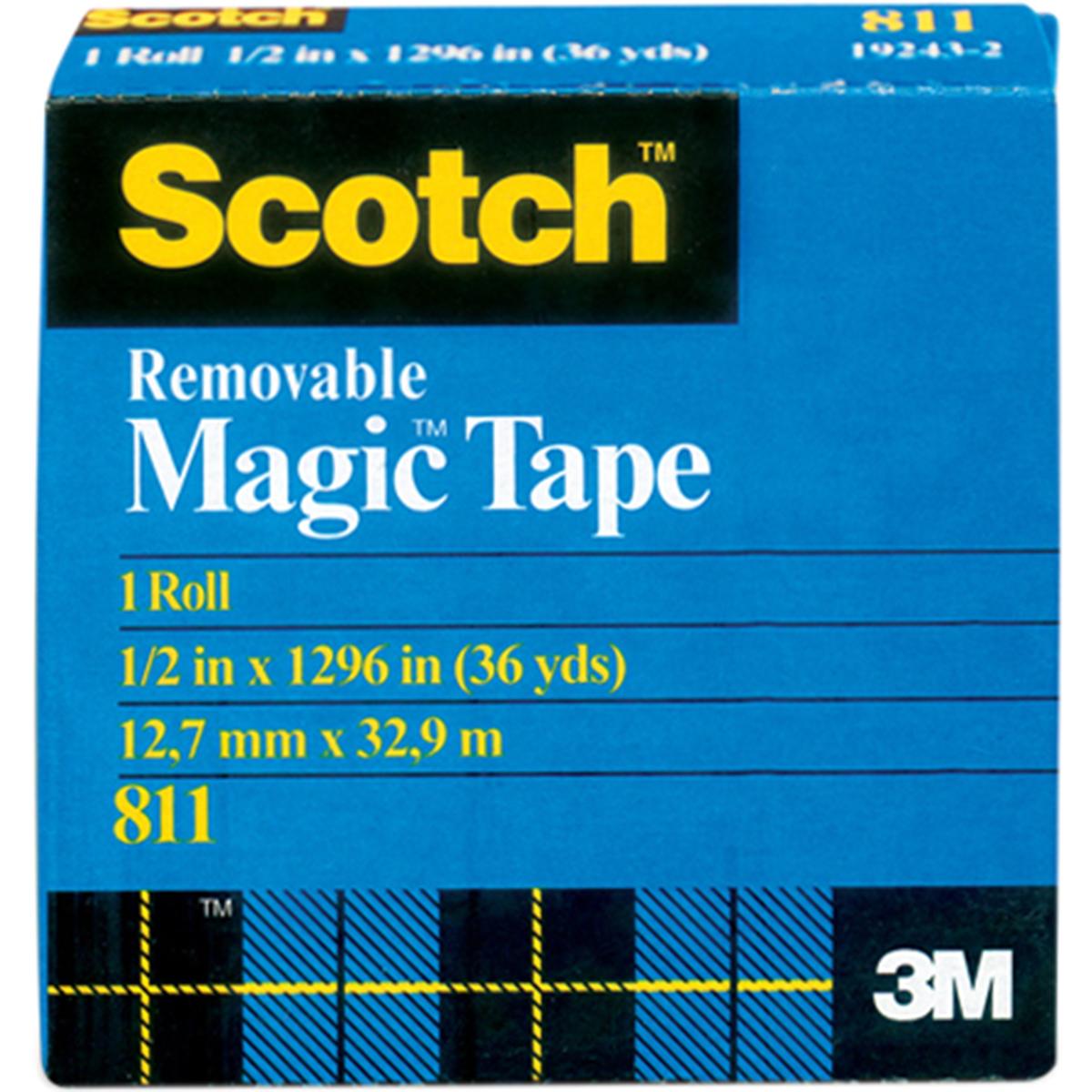 Scotch Removable Tape .50X36yd-