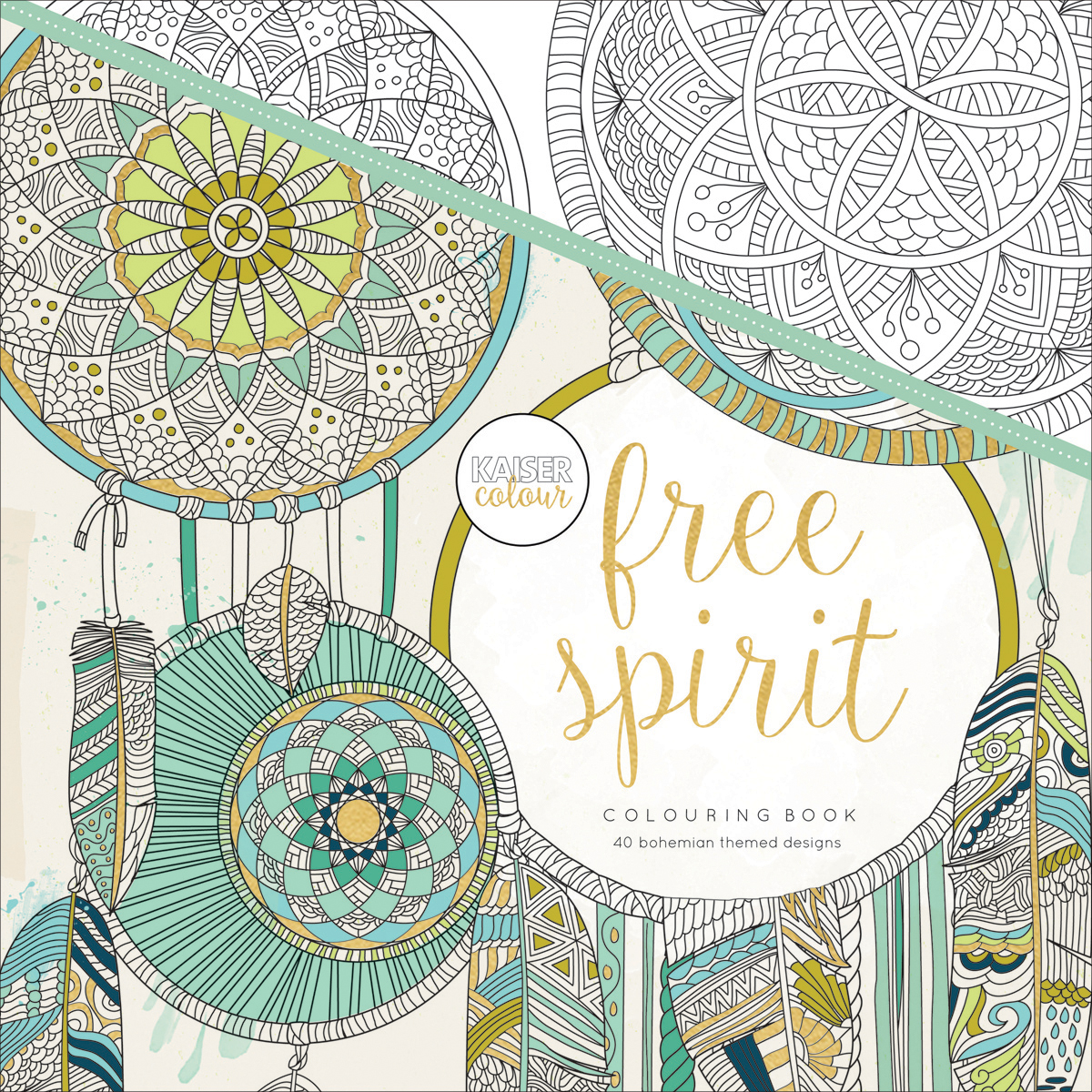 KaiserColour Perfect Bound Coloring Book 9.75X9.75-Free Spirit