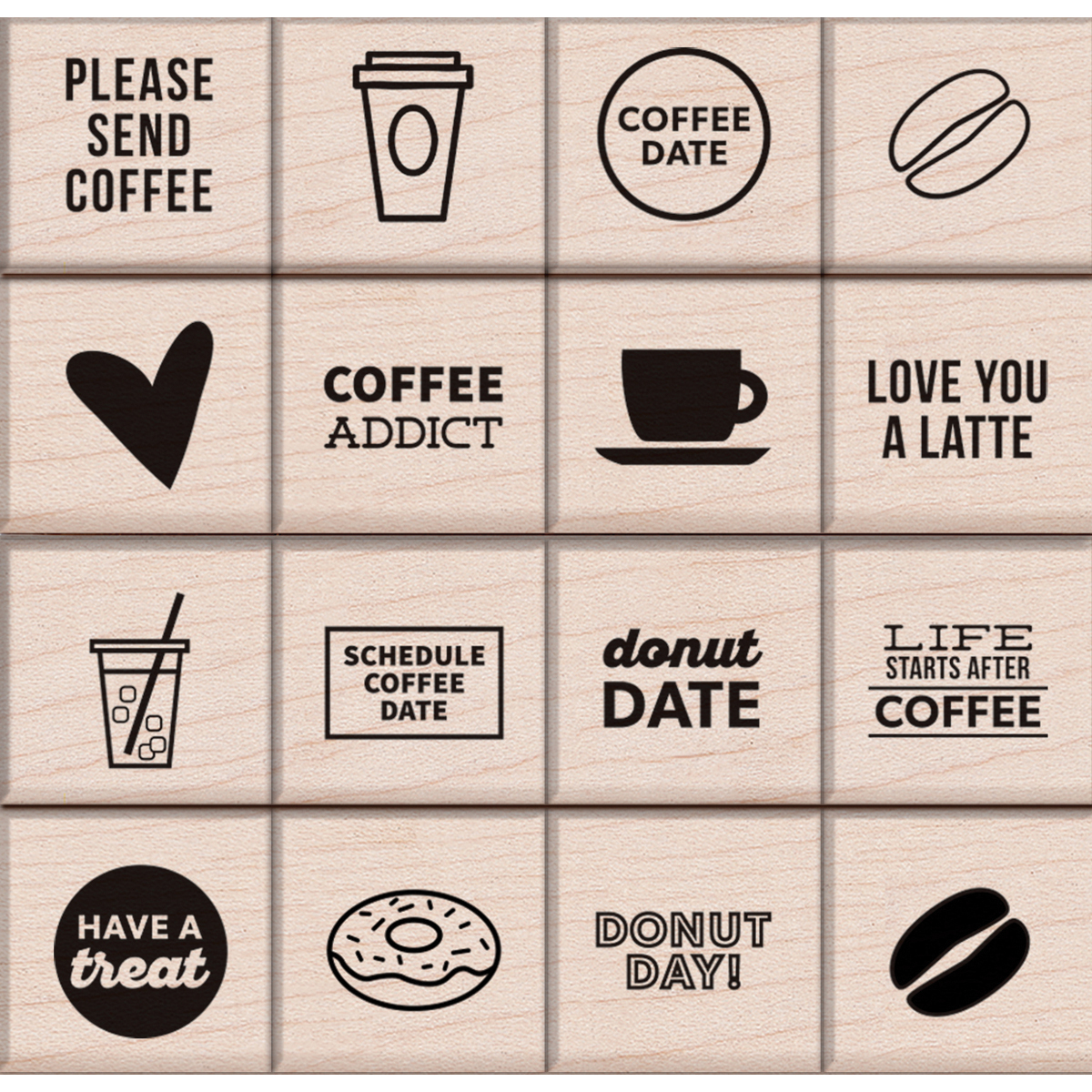 COFFEE&DON-KELLY MOUNTED STAMPS