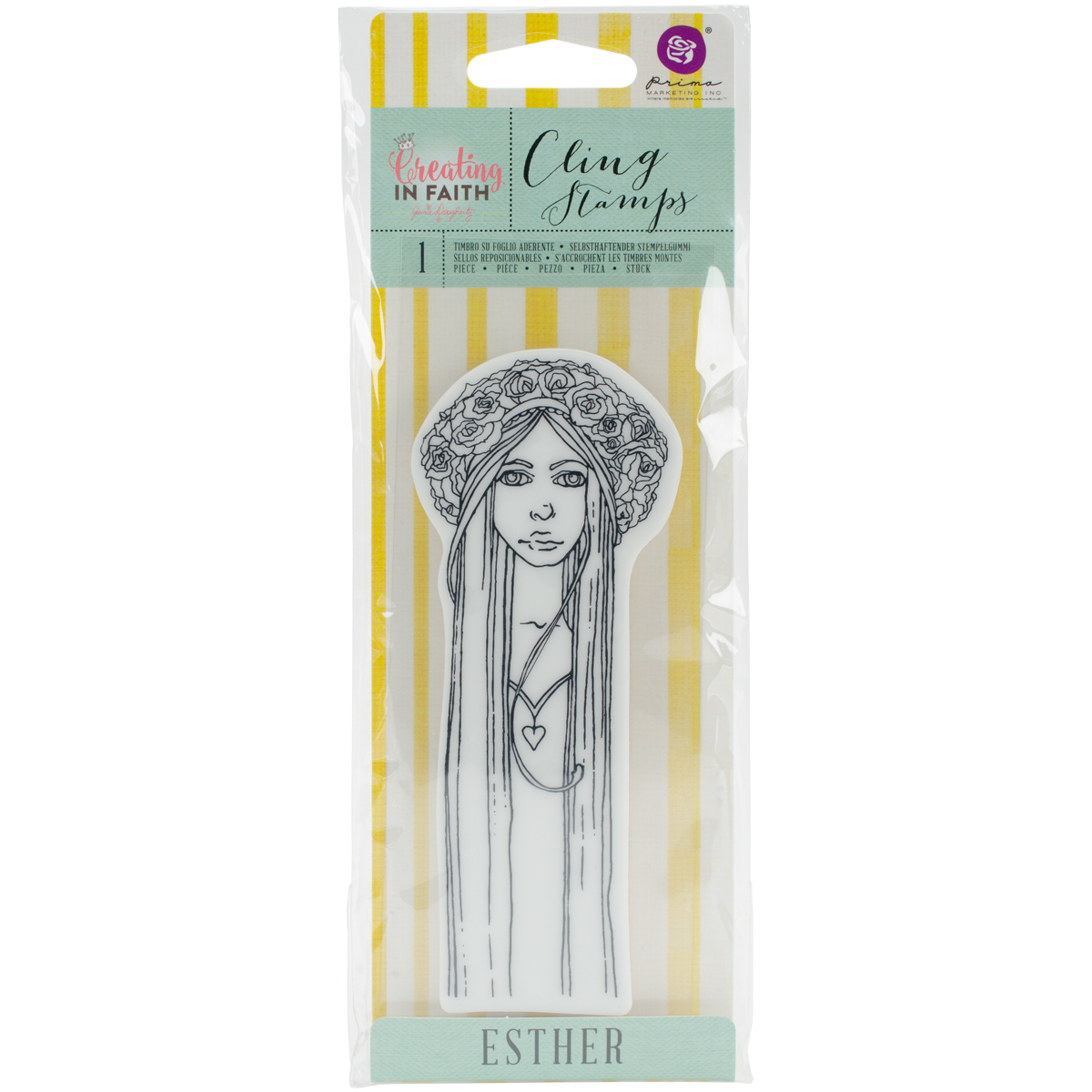 Jamie Dougherty Creating In Faith Cling Stamps 2.25X6-Esther