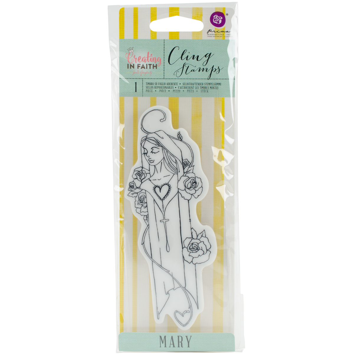 Jamie Dougherty Creating In Faith Cling Stamps 2.25X6-Mary