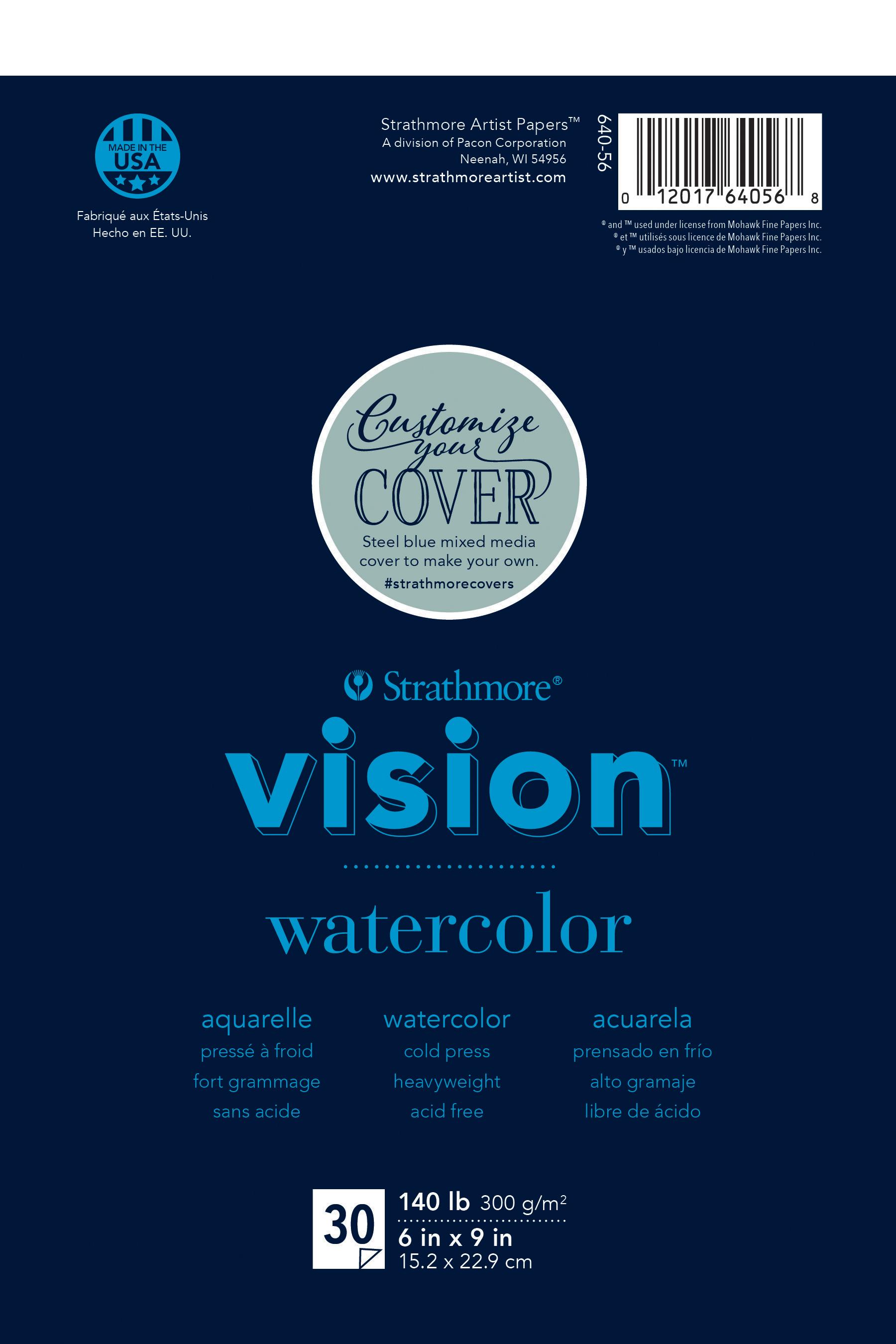 Strathmore Vision Cold Press Watercolor Pad 6X9-140lb, 30 Sheets