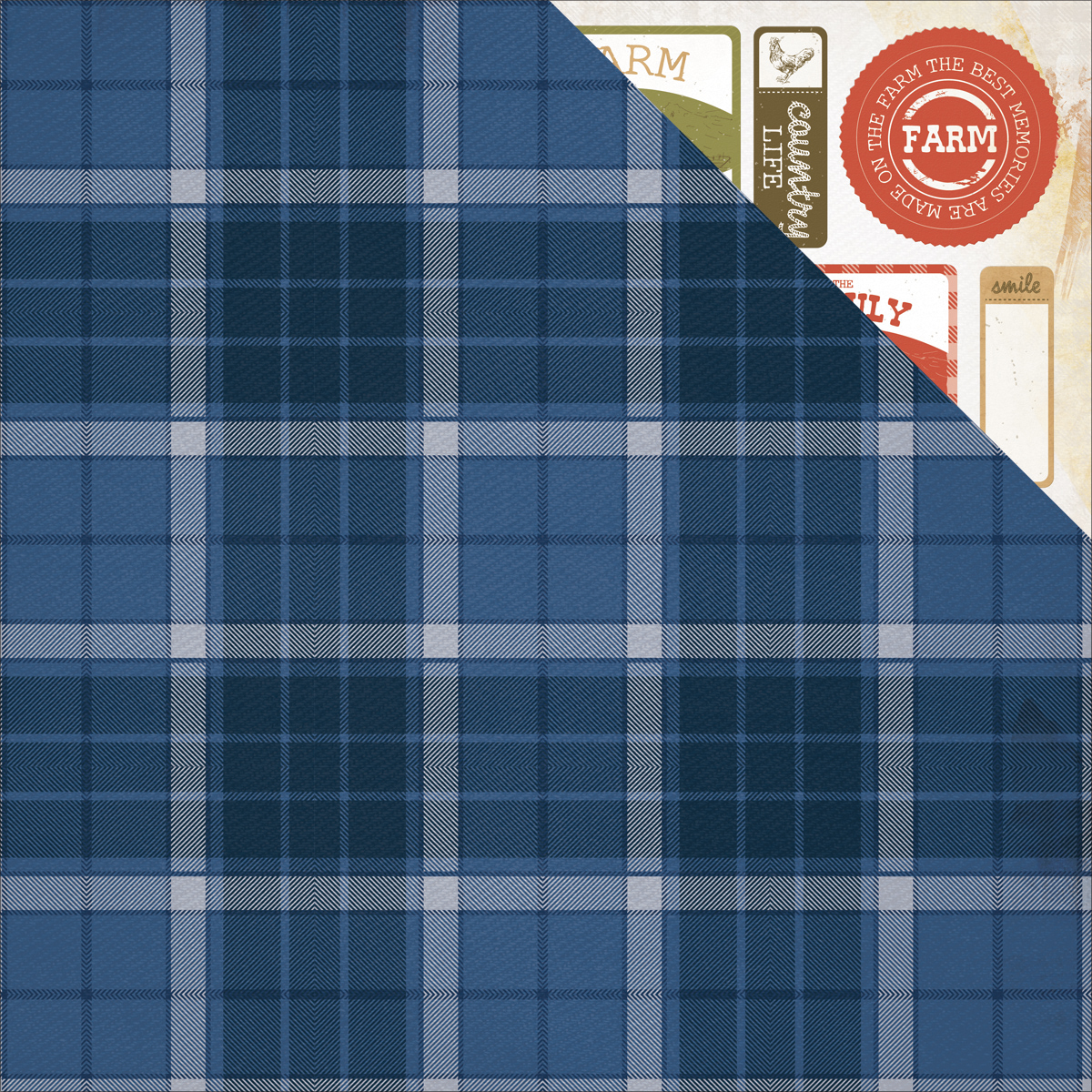 Old Mac Double-Sided Cardstock 12X12-Flanno (Flannel)