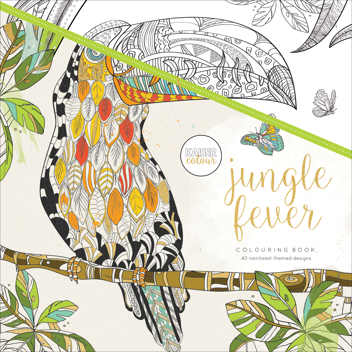 KaiserColour Perfect Bound Coloring Book 9.75X9.75-Jungle Fever