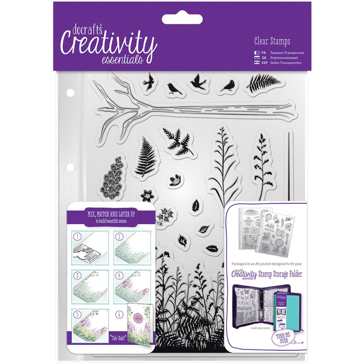Creativity Essentials A5 Clear Stamp Set 20/Pkg-Forest