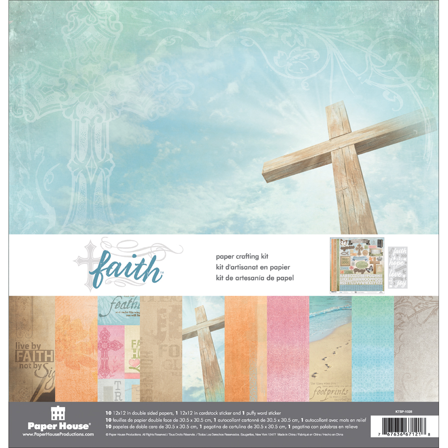 Paper House Paper Crafting Kit 12X12-Faith