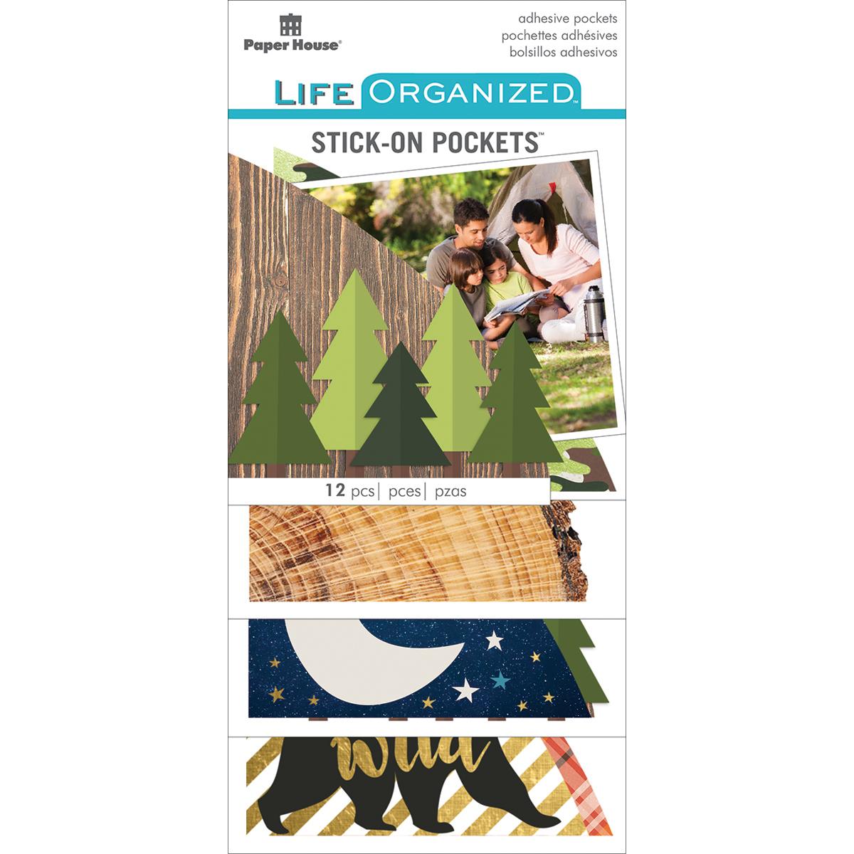 Life Organized Stick-on Pockets