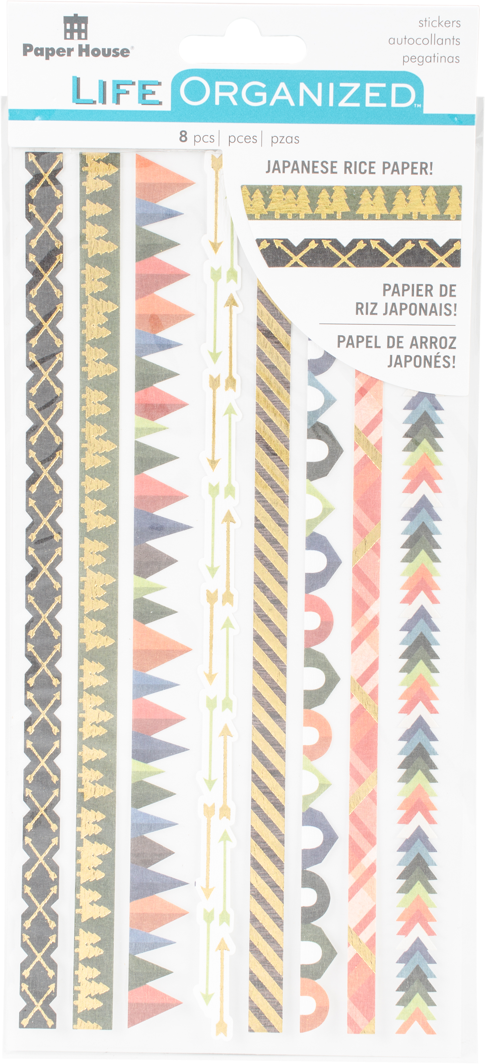 Paper House Life Organized Rice Paper Border Stickers  -Outdoors