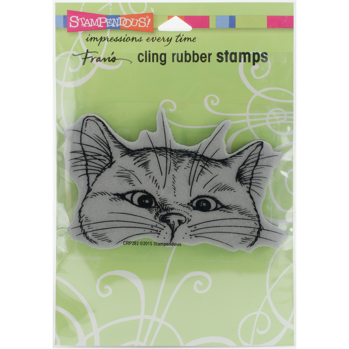 Stampendous Cling Stamp -Nosey Cat