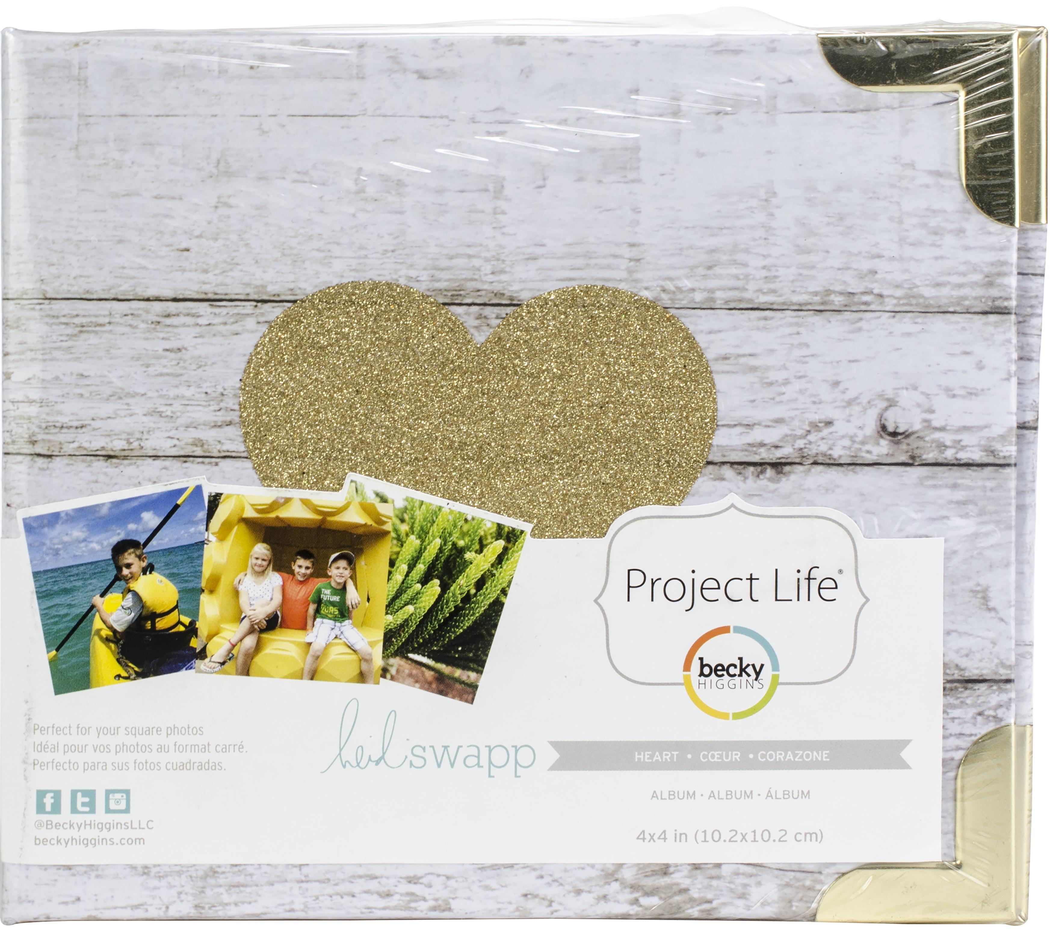 AC - Project Life D-Ring Album - Glitter Heart 4X4