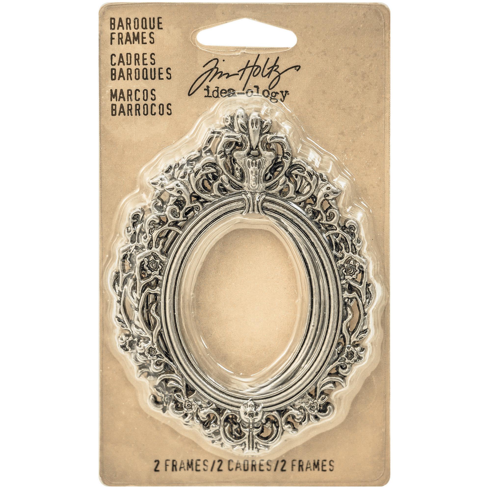 Idea-Ology Metal Baroque Frames 2.25X3 2/Pkg-Antique Nickel
