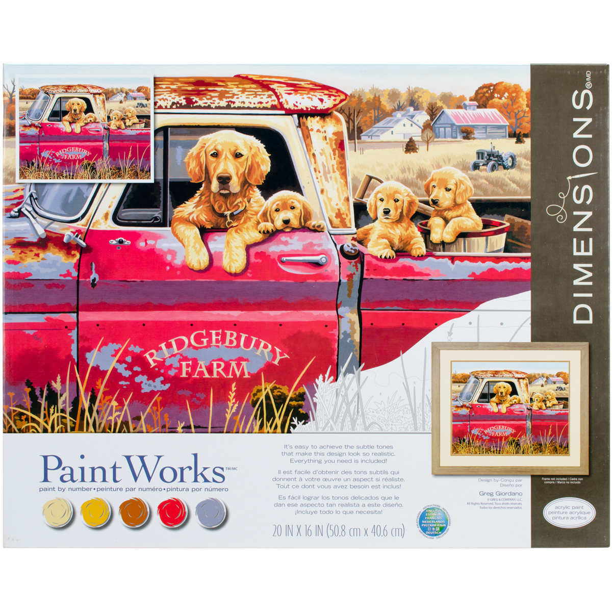 Paint Works Paint By Number Kit 16X20-Golden Ride