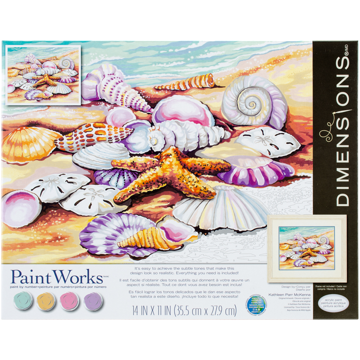 Paint Works Paint By Number Kit 11X14-Shells