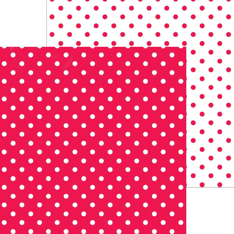 Doodlebug Petite Swiss Dot Cardstock 12X12-Ladybug