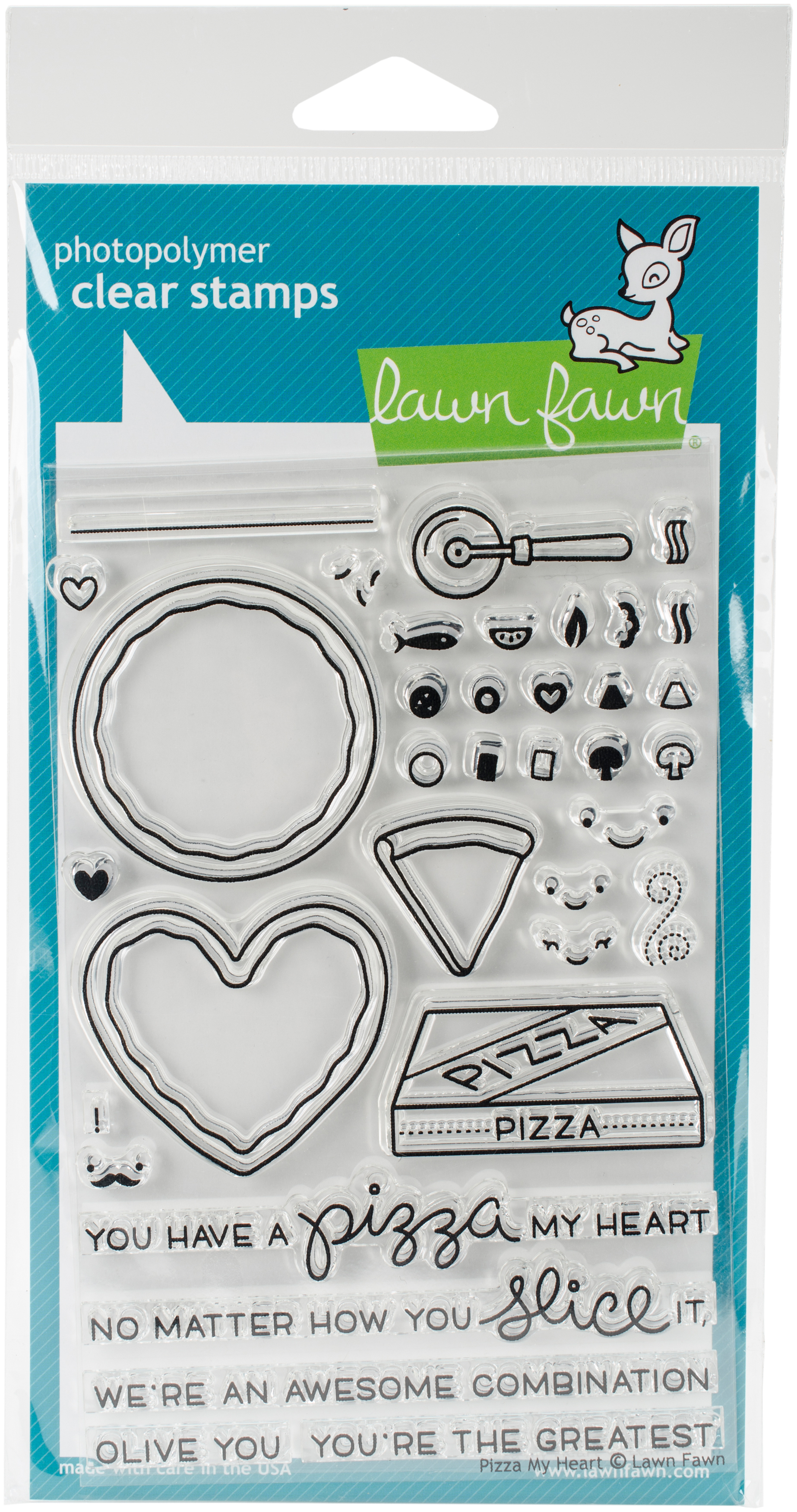 Lawn Fawn-My Pizza Stamp