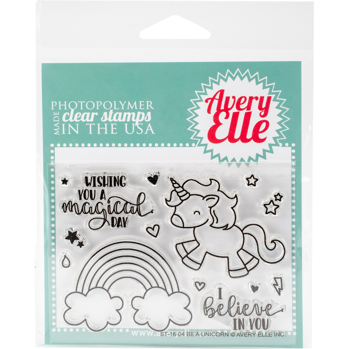 Avery Elle Clear Stamp & Die Bundle - Be A Unicorn