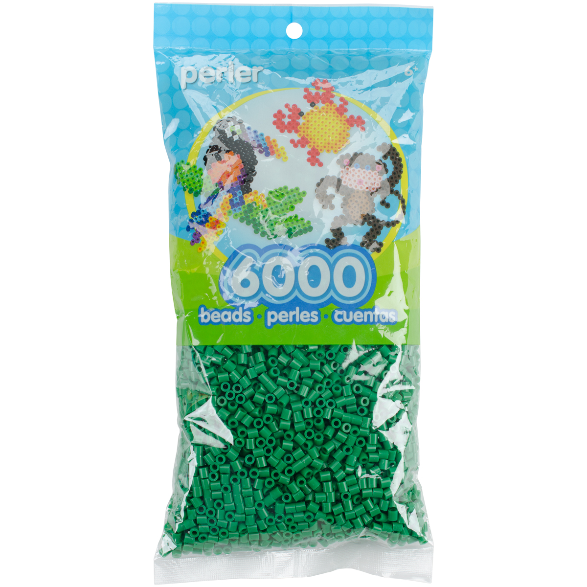 Perler Beads 6,000/Pkg-Dark Green