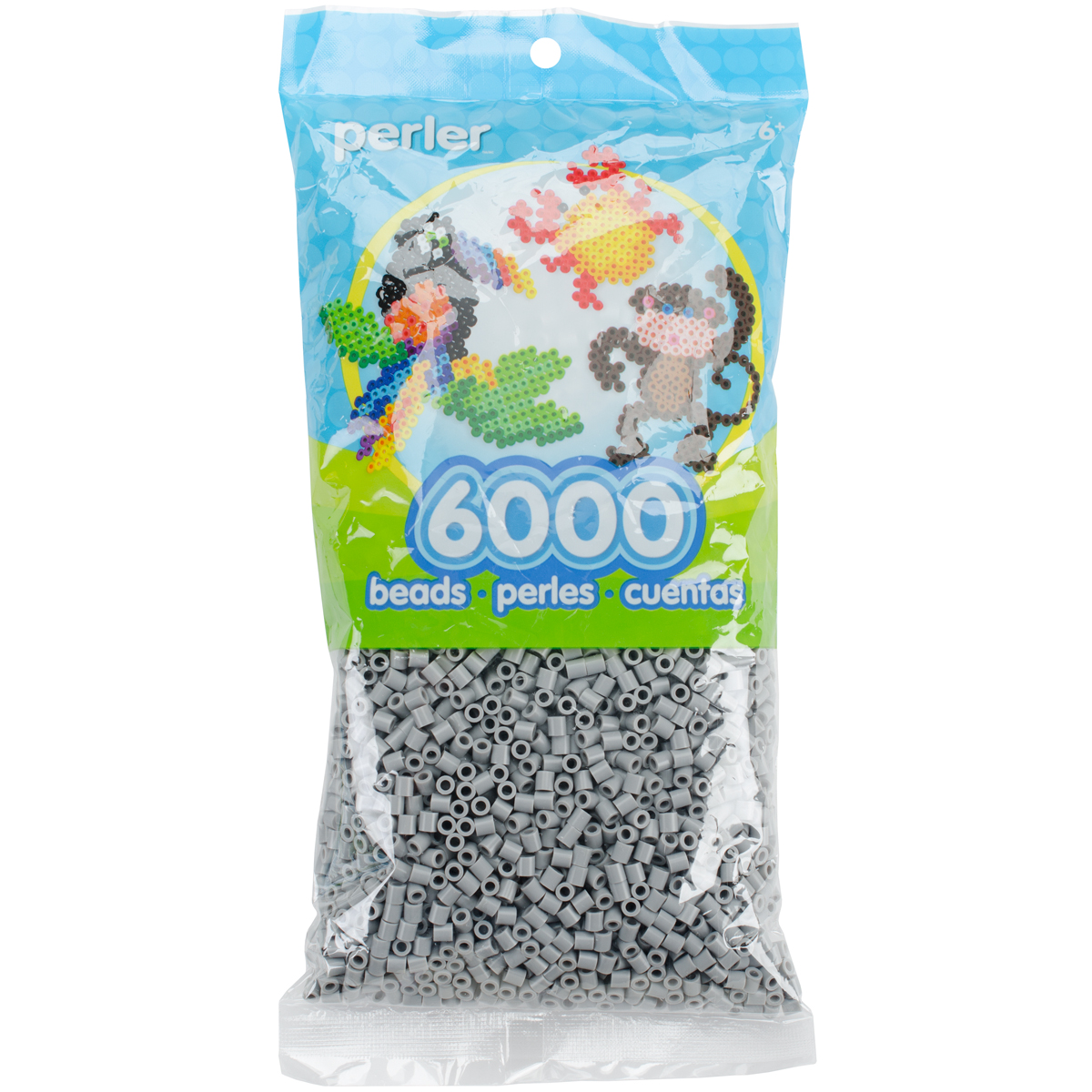Perler Beads 6,000/Pkg-Grey