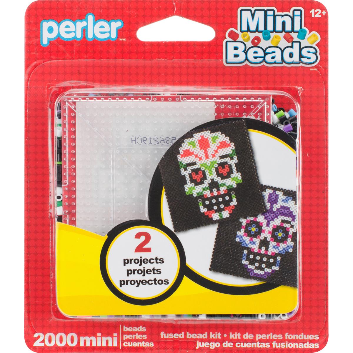 Perler Mini Fused Bead Kit-Sugar Skull