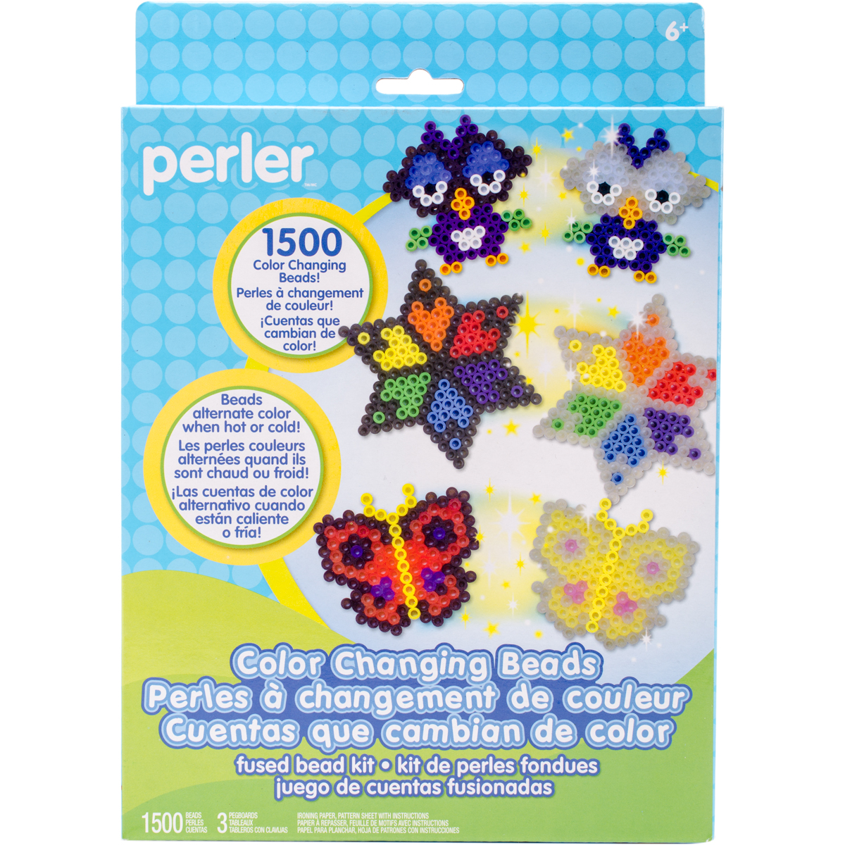 Perler Fused Bead Kit-Color Changing Beads