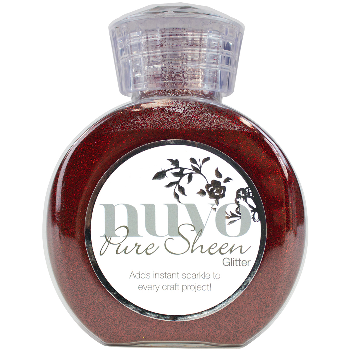 Nuvo Pure Sheen Glitter Ruby Red