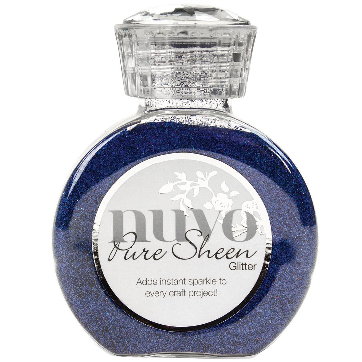 Nuvo Pure Sheen Glitter 3.38oz-Blue Sapphire
