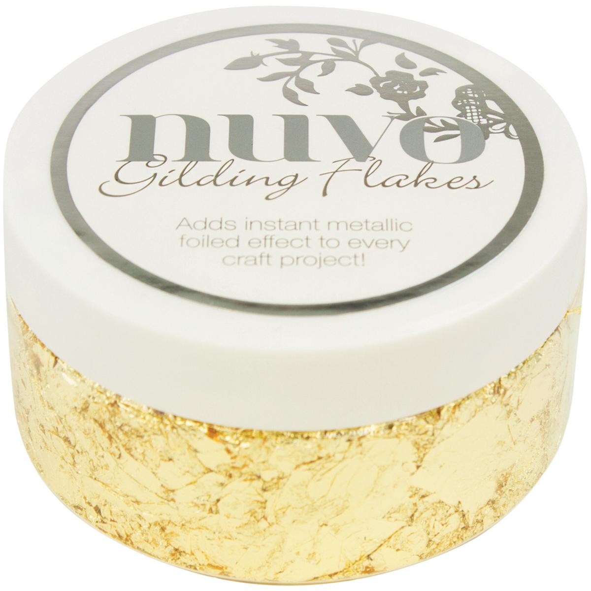 Nuvo Gilding Flakes 6.8oz-Radient Gold