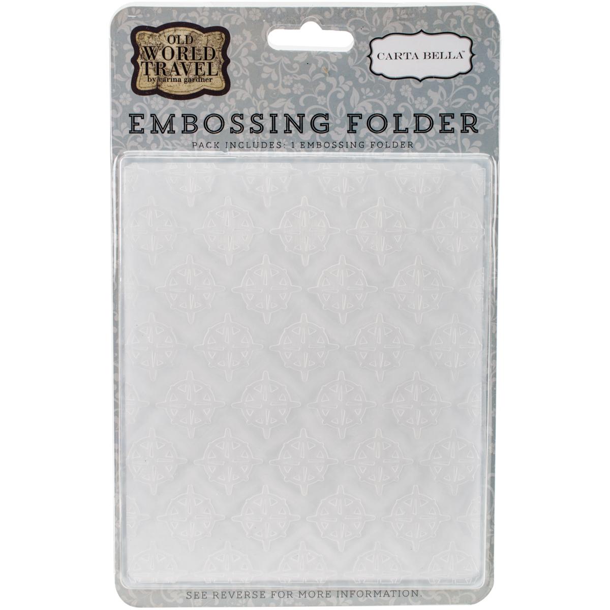 Carta Bella Embossing Folder 5X5.875-Compass