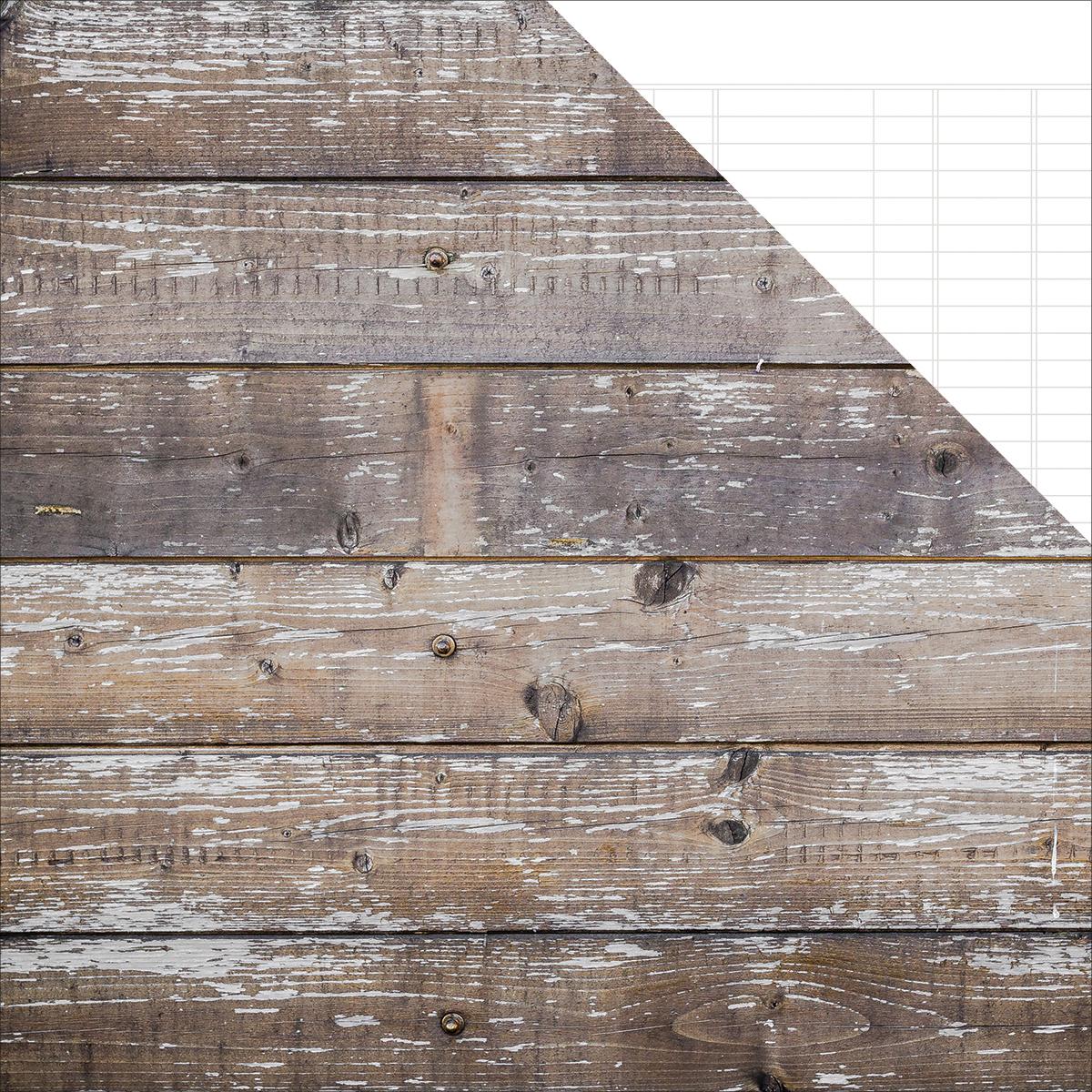 Sn@p! Basics Color Vibe Double-Sided Cardstock 12X12-Cedar/White Ledger