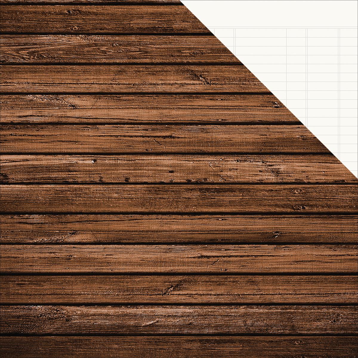 Sn@p! Basics Color Vibe Double-Sided Cardstock 12X12-Elm/Cream Ledger