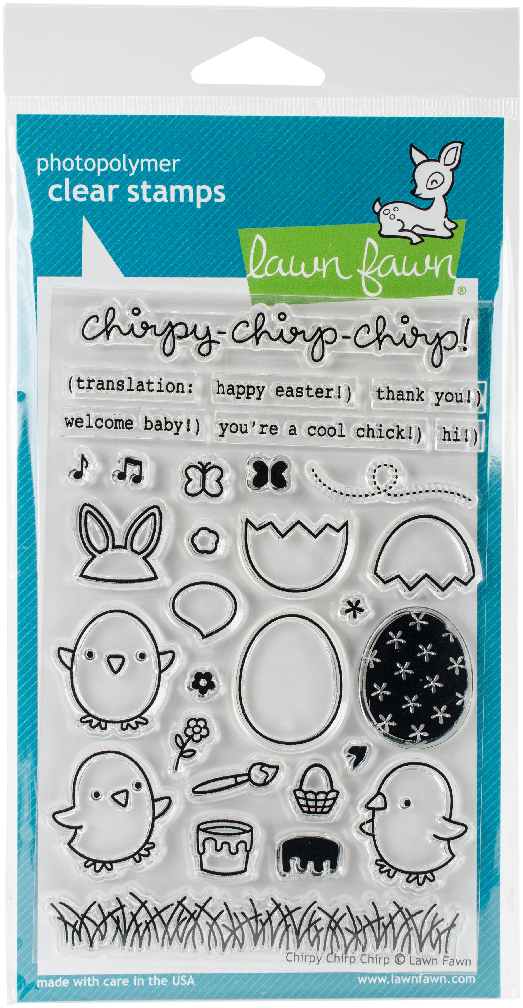 Lawn Fawn Clear Stamps 4X6-Chirpy Chirp Chirp